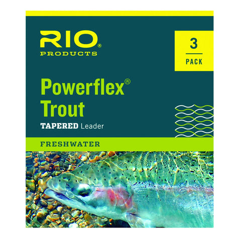 RIO™ Powerflex Trout Leaders - 1 or 3 Pack