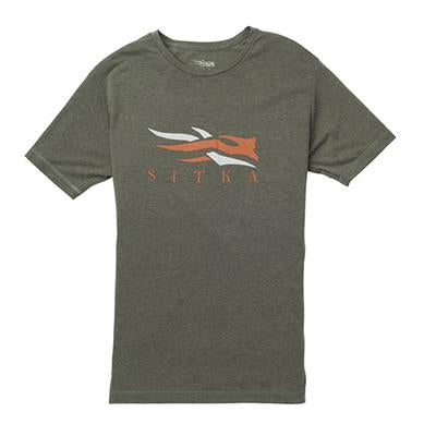 Sitka® Logo Tee SS - Black, Grey and Olive