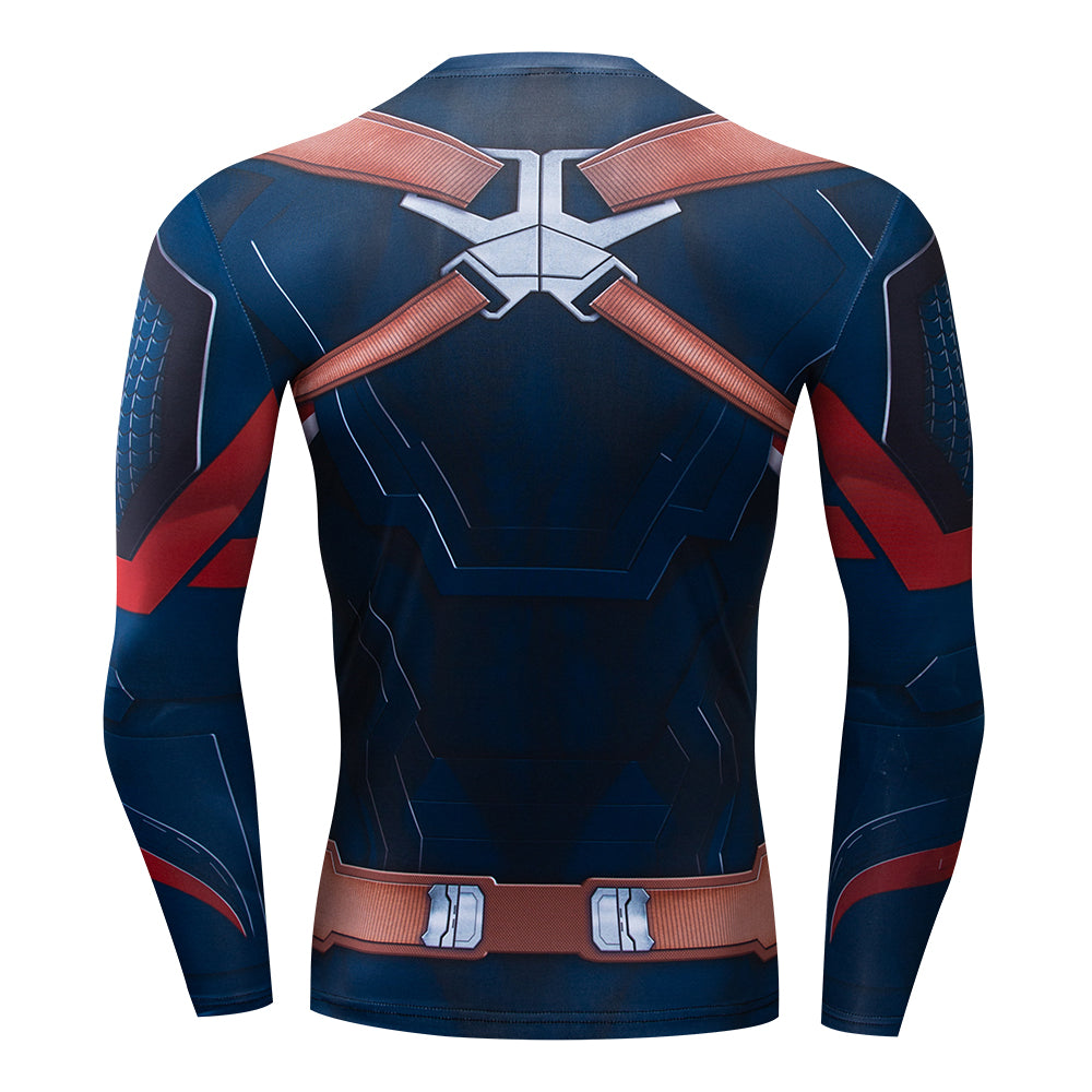 Captain America Compression Premium T shirt