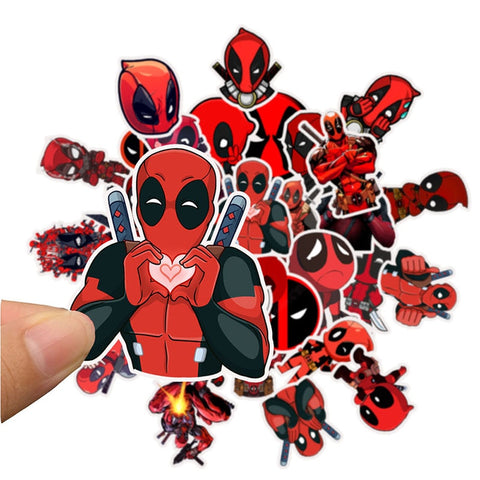 35Pcs/set Superhero Deadpool Cartoon Stickers