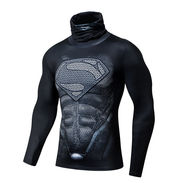 Superman shirt with mask-scarf
