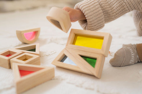 Educational toy for toddlers - building blocks to help brain development
