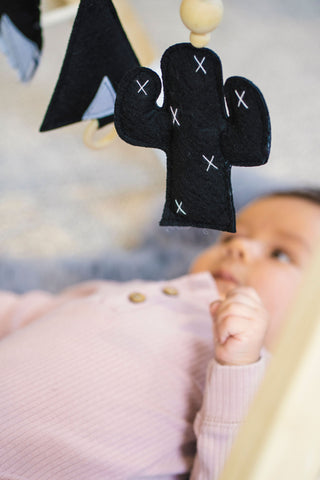 Babies and the best stimulation - black and white activity pendants