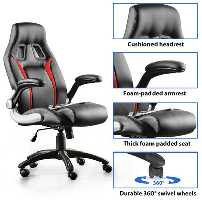 Furgle Office Chair Height Adjustment Function Ergonomic Gaming Chair Computer Chairs with Large Seat for Solo or Office Work