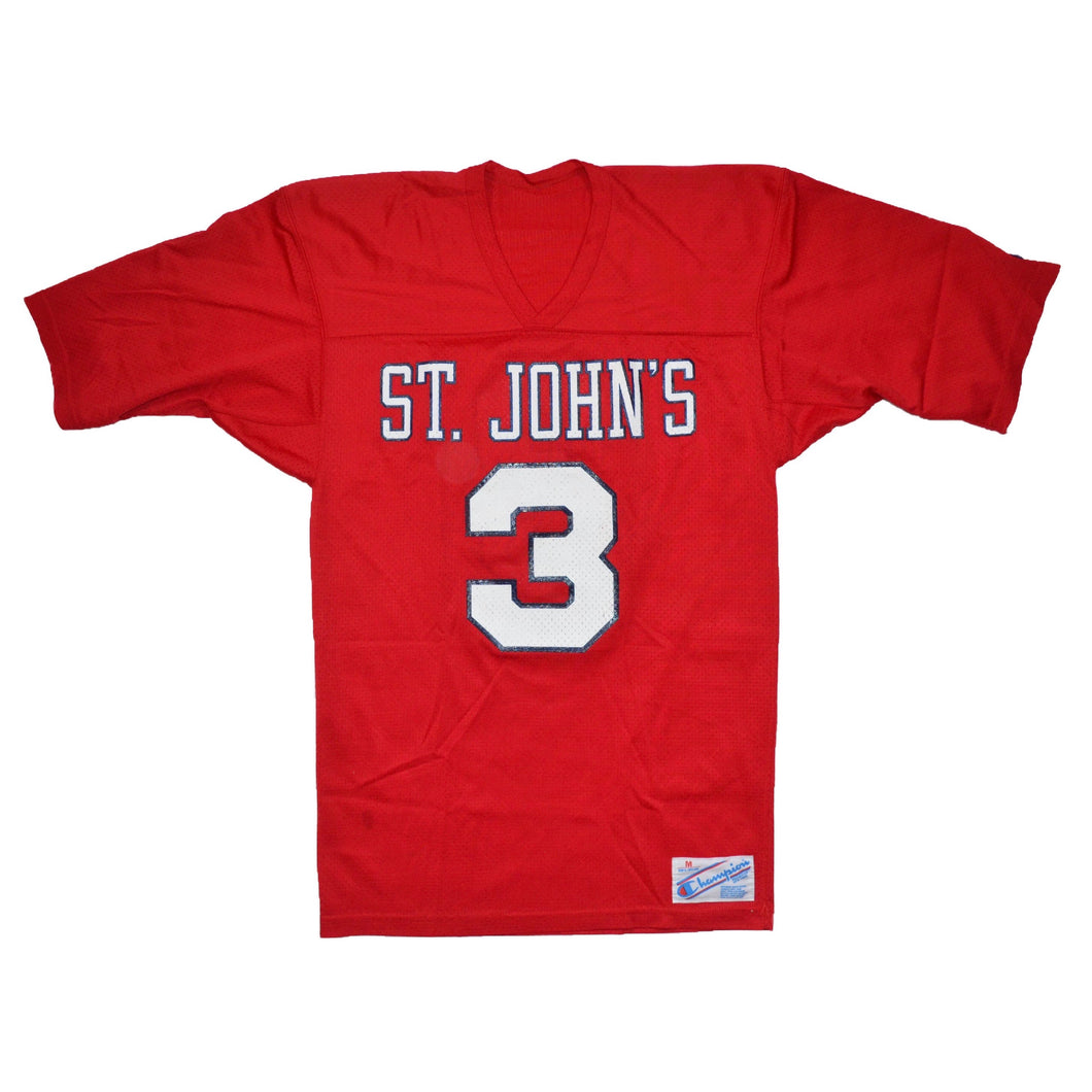 Men's Vintage St. John's University Champion #3 Jersey Medium