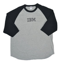 Load image into Gallery viewer, Men's Vintage IBM 1/2 Sleeve Baseball T-shirt XL