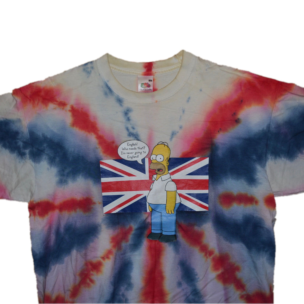 Men's The Simpsons UK Tie Dye T-shirt Large