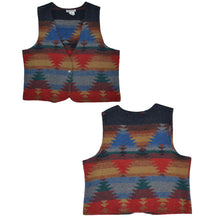 Load image into Gallery viewer, Women's Vintage Aztec Pattern Wool Vest Large