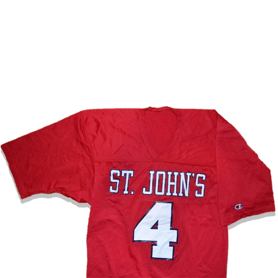 Men's Vintage St. John's University Champion Football Jersey Medium