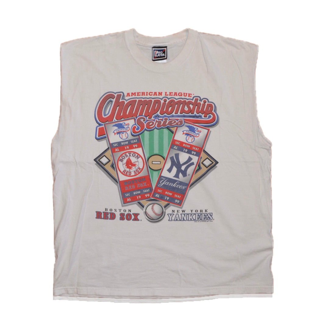 Men's Vintage World Series 1999 Red Sox vs. Yankees Sleeveless T-shirt XL