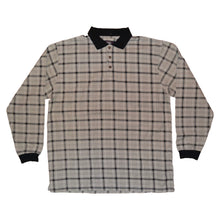 Load image into Gallery viewer, Men's Vintage Checkered Patterned Long Sleeve Polo Shirt XL