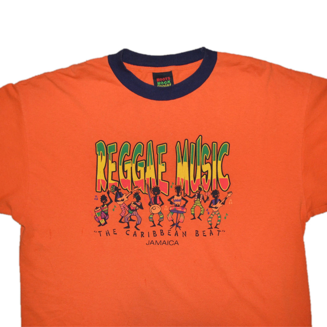 Men's Vintage Reggae Music Ringer T-shirt