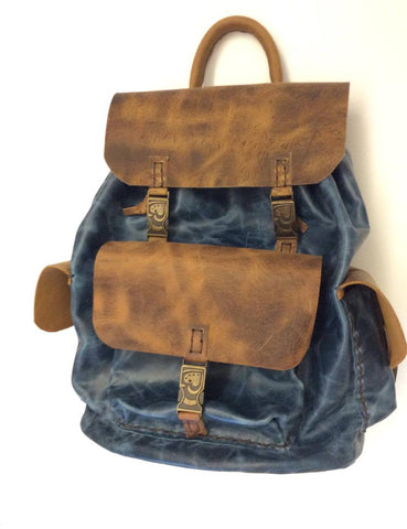 Leather Backpack for Weekend Trip