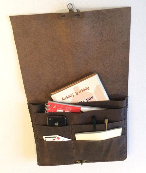 Distressed Brown Leather Portfolio-Custom Business Portfolio Bag