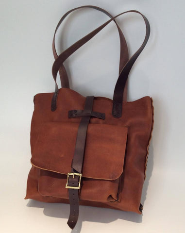 Custom Leather Tote Bag-Brown Leather Tote Bag For Women