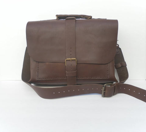 Dark Brown Leather Work Bag