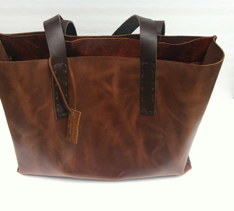 Brown Leather Tote Bag For Women-Custom Leather Tote Bags