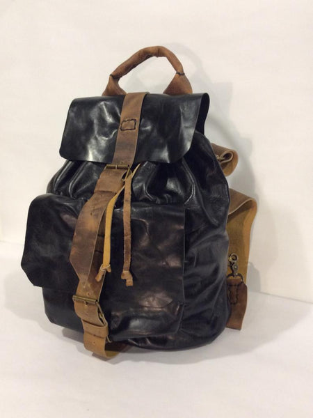 Black Leather Backpack for Weekend Trip-Custom Leather Backpack