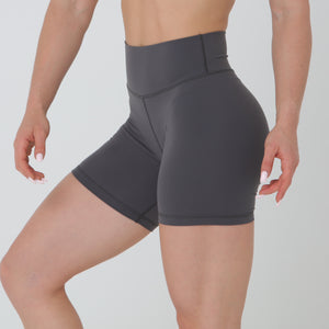 SCRUNCH BIKE SHORTS - DARK GREY