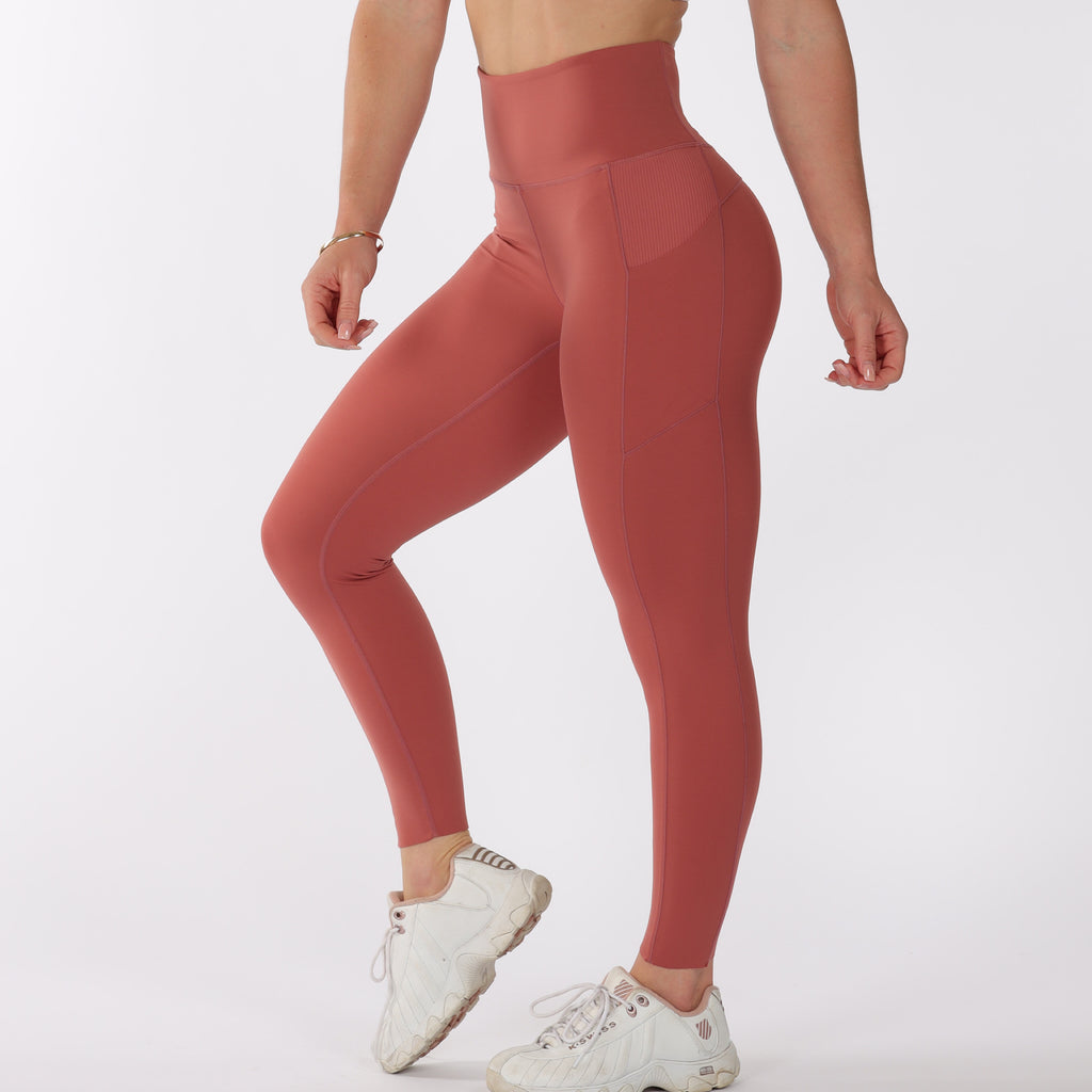 FLOW LEGGINGS - Papaya