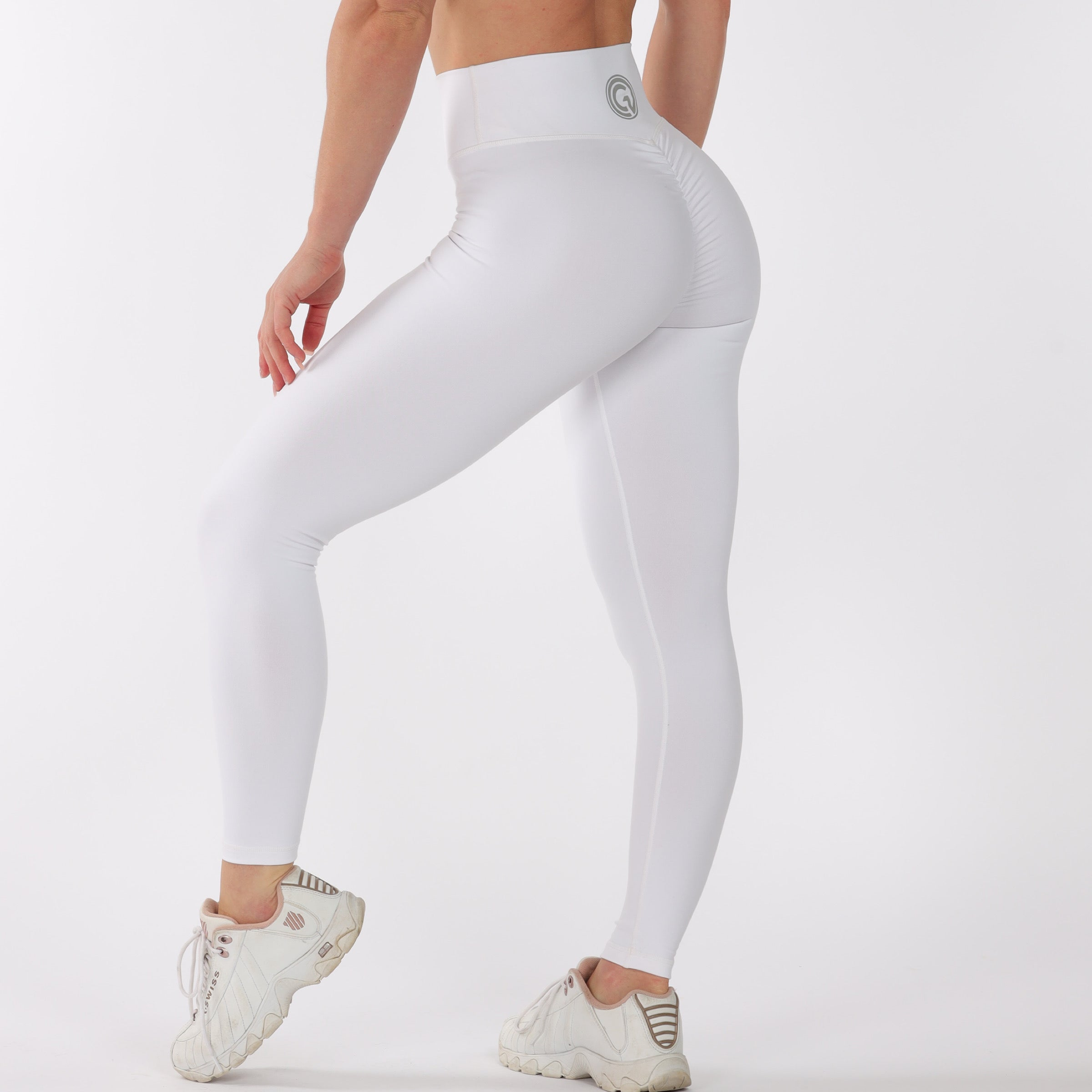 FULL LENGTH SCRUNCH BUM - WHITE