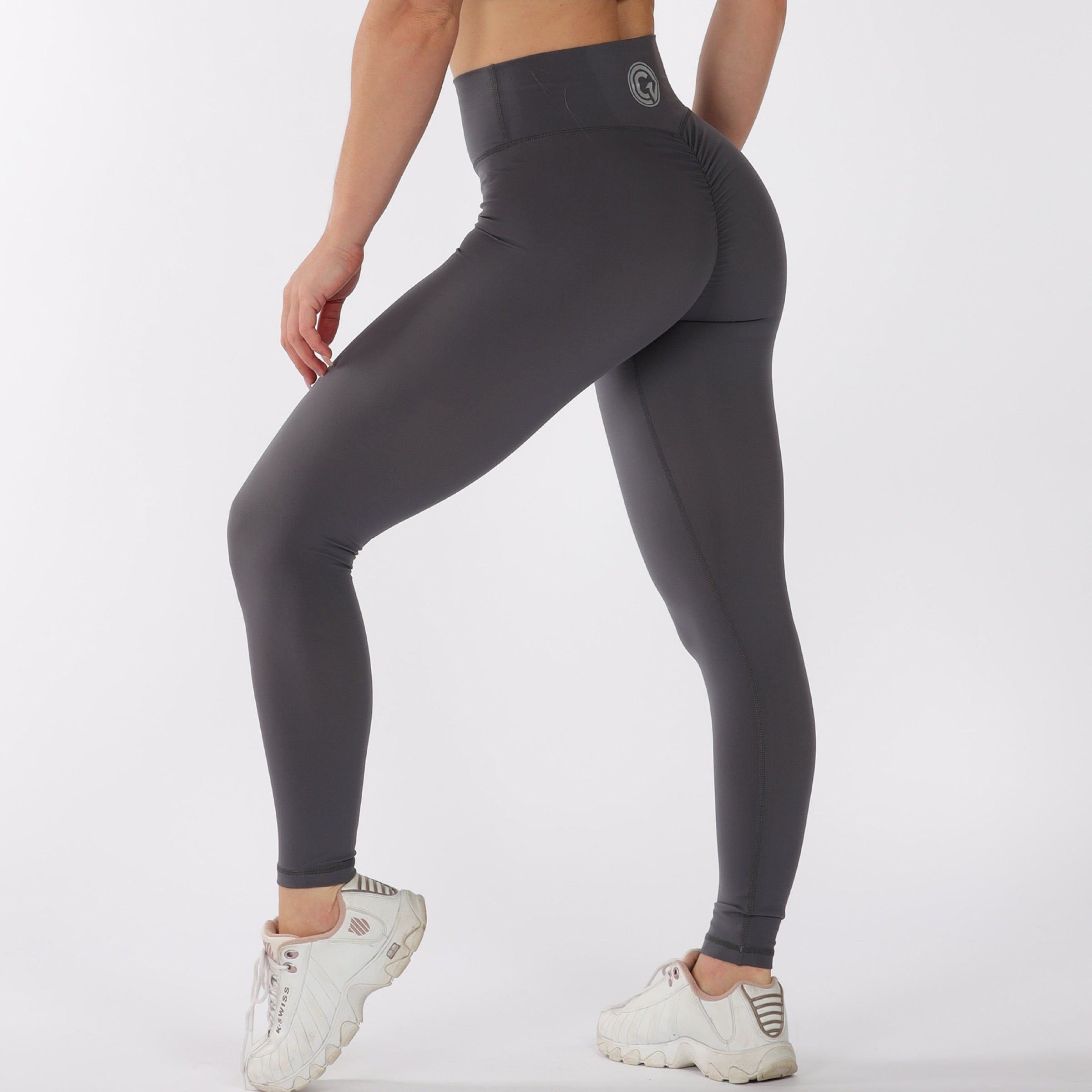 FULL LENGTH SCRUNCH BUM - DARK GREY