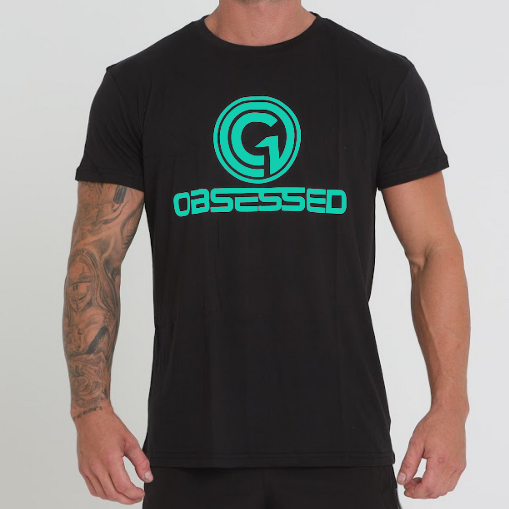 BASE T-SHIRT - BLACK/TEAL