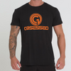 BASE T-SHIRT - BLACK/ORANGE