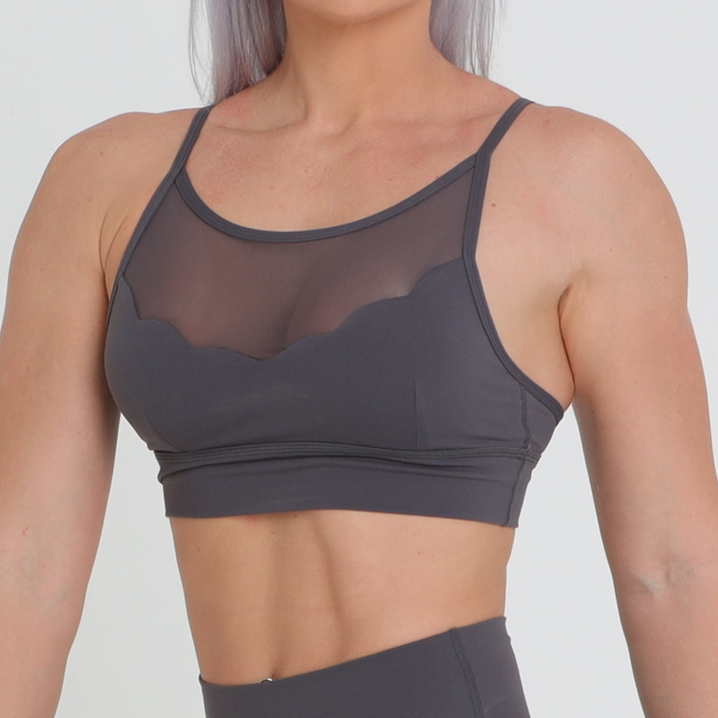 Lily Mesh Crop - Dark Grey