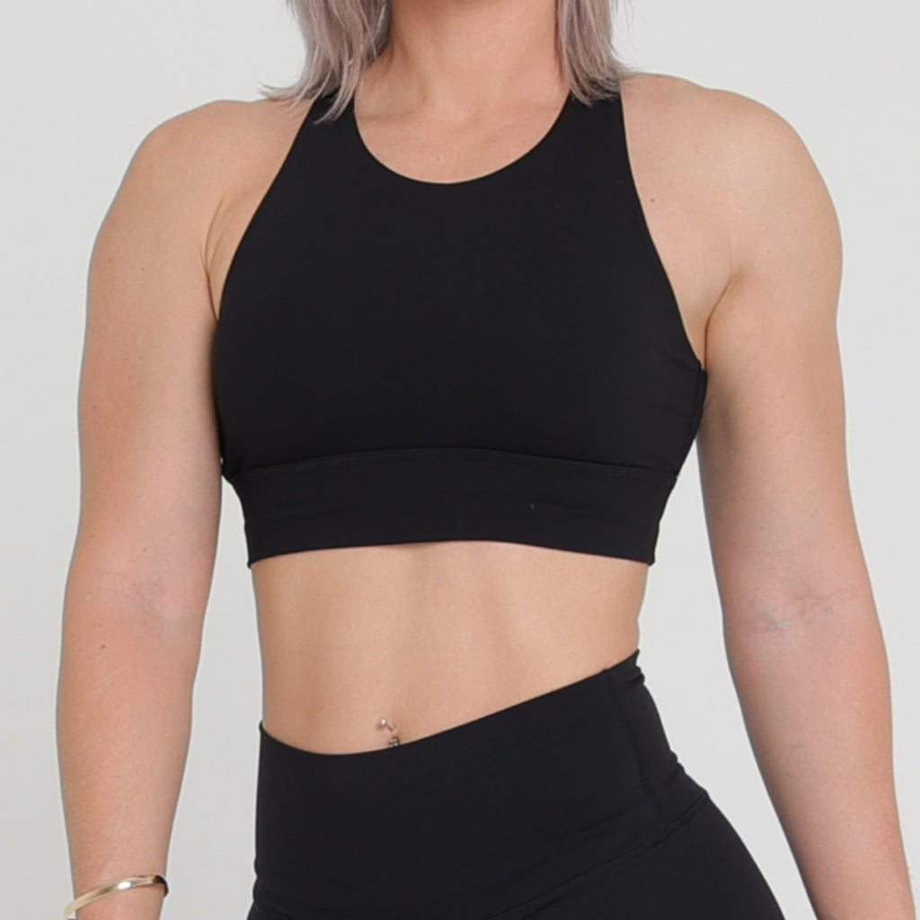 MILA CROP - BLACK