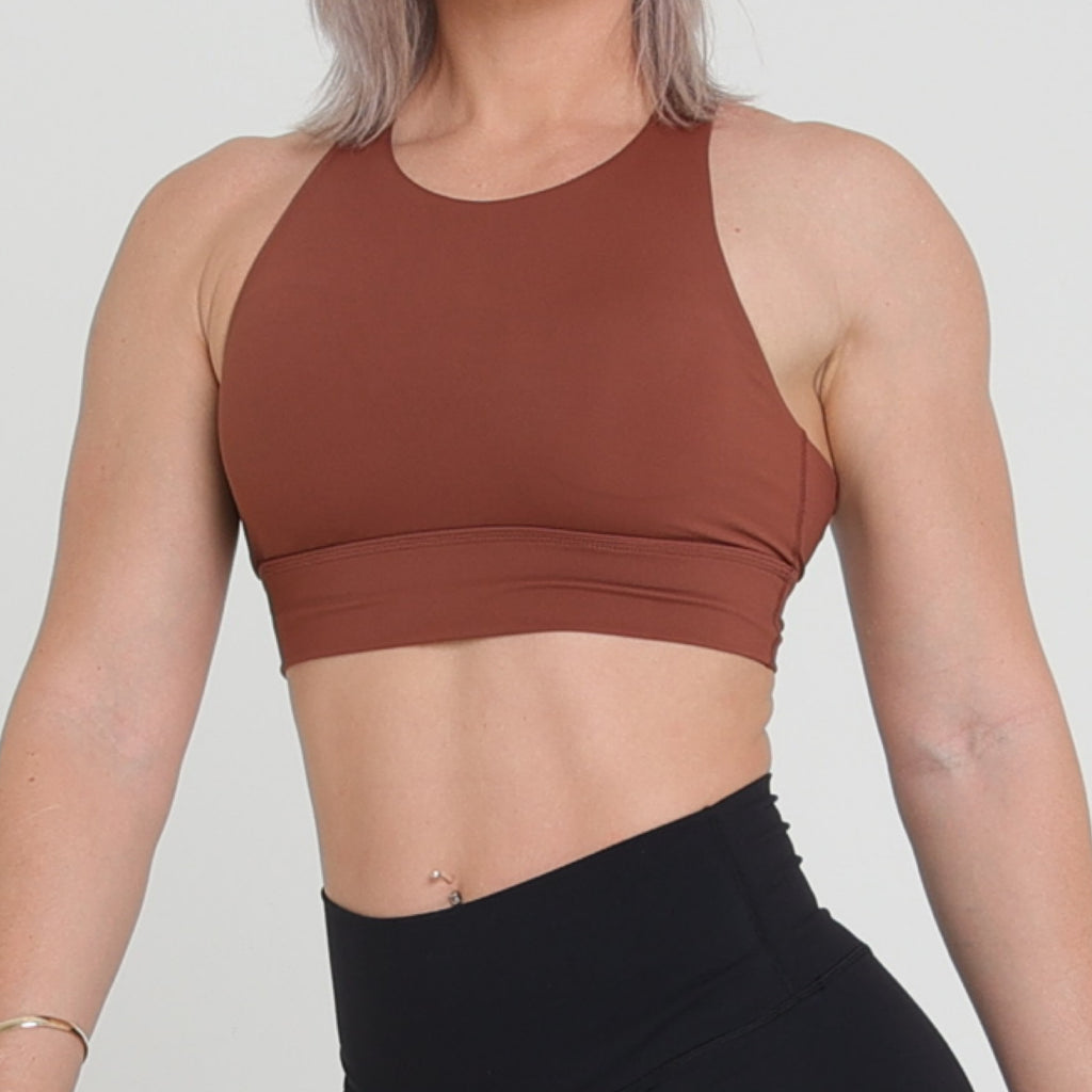 MILA CROP - BROWN