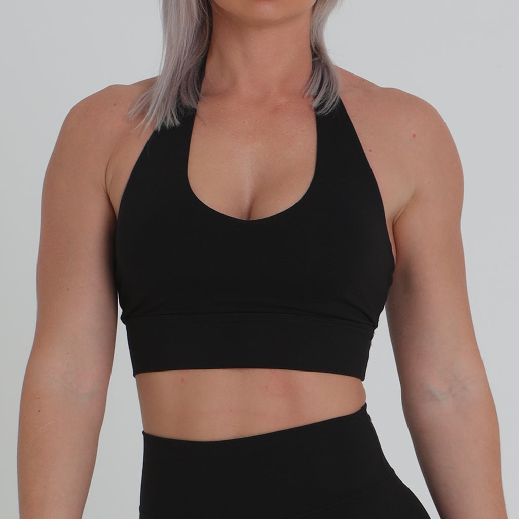 HALTER CROP - Black
