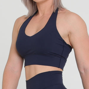 HALTER CROP - NAVY