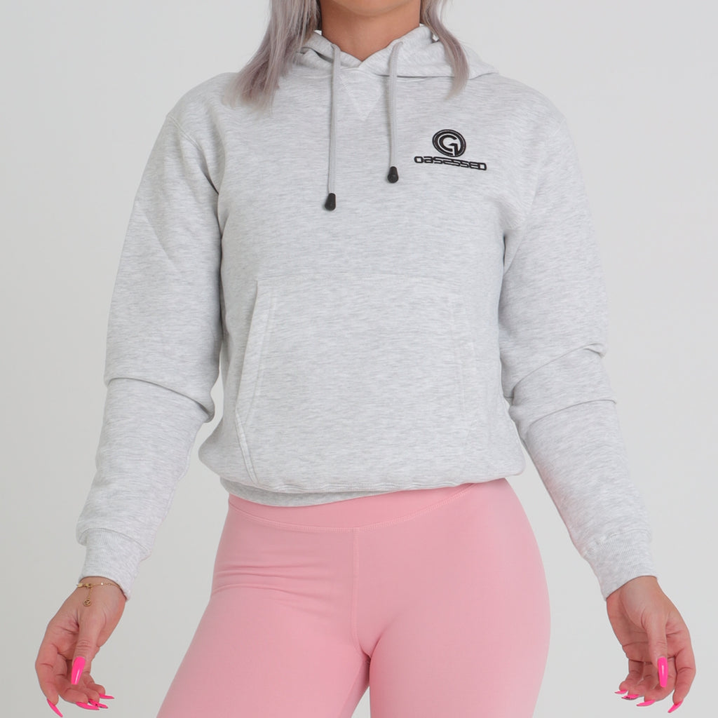 OG Womens Hoodie - Light Grey 01 | Obsessed Gymwear