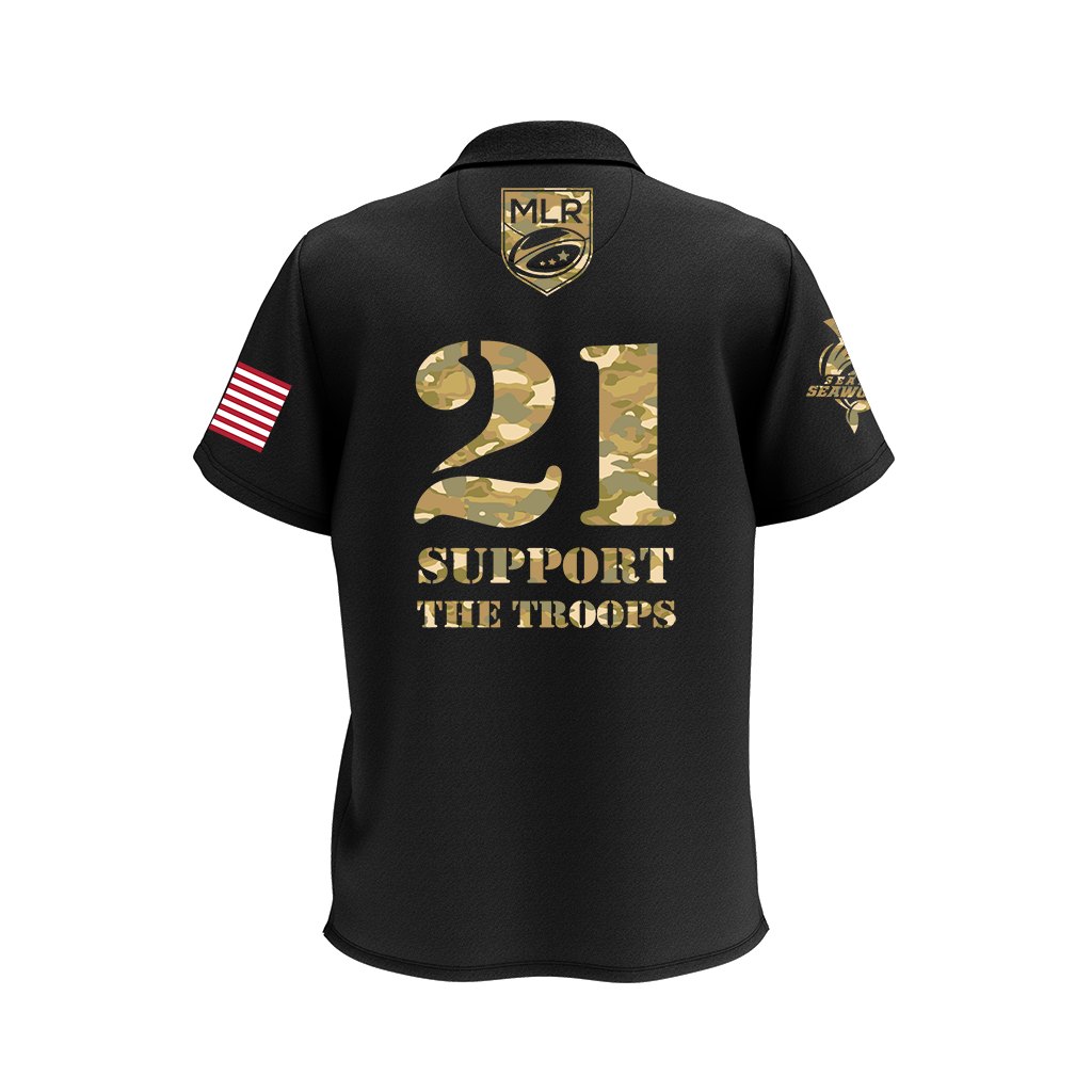 "Toronto Arrows 2021 ""Salute the Troops"" Polo - Adult Unisex Black - SHOPMLR.COM"