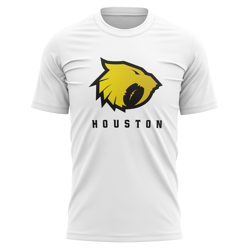 "Houston Sabercats 2021 ""Sabercat"" Graphic Tee - Men's White - SHOPMLR.COM"
