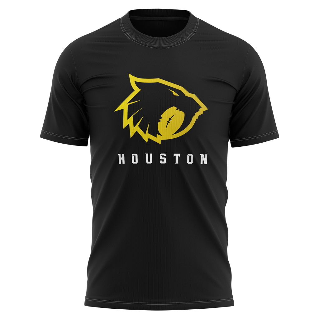 "Houston Sabercats 2021 ""Sabercat"" Graphic Tee - Men's Black - SHOPMLR.COM"