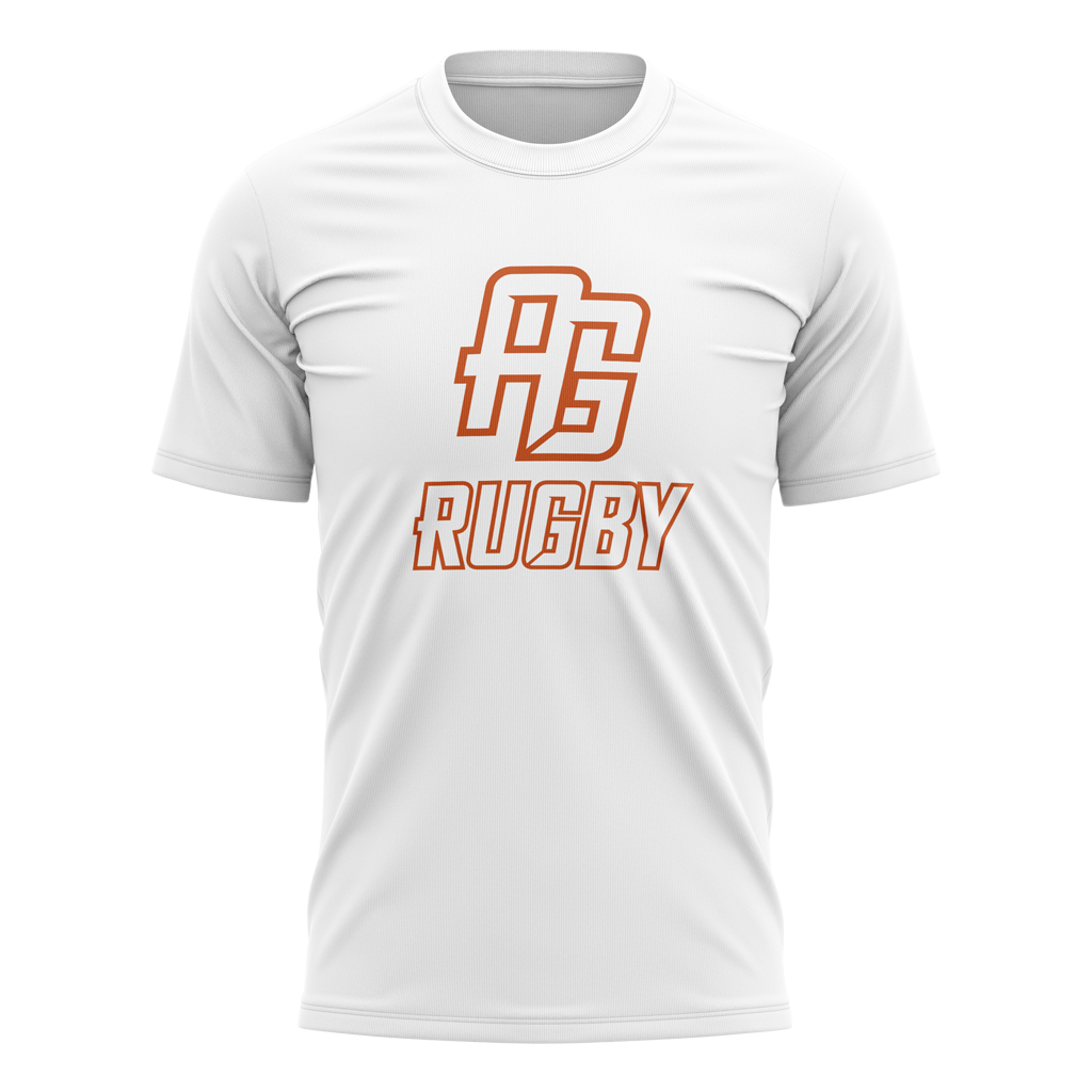 AG Rugby 2021 Logo Tee - Youth White - GAMEDAY