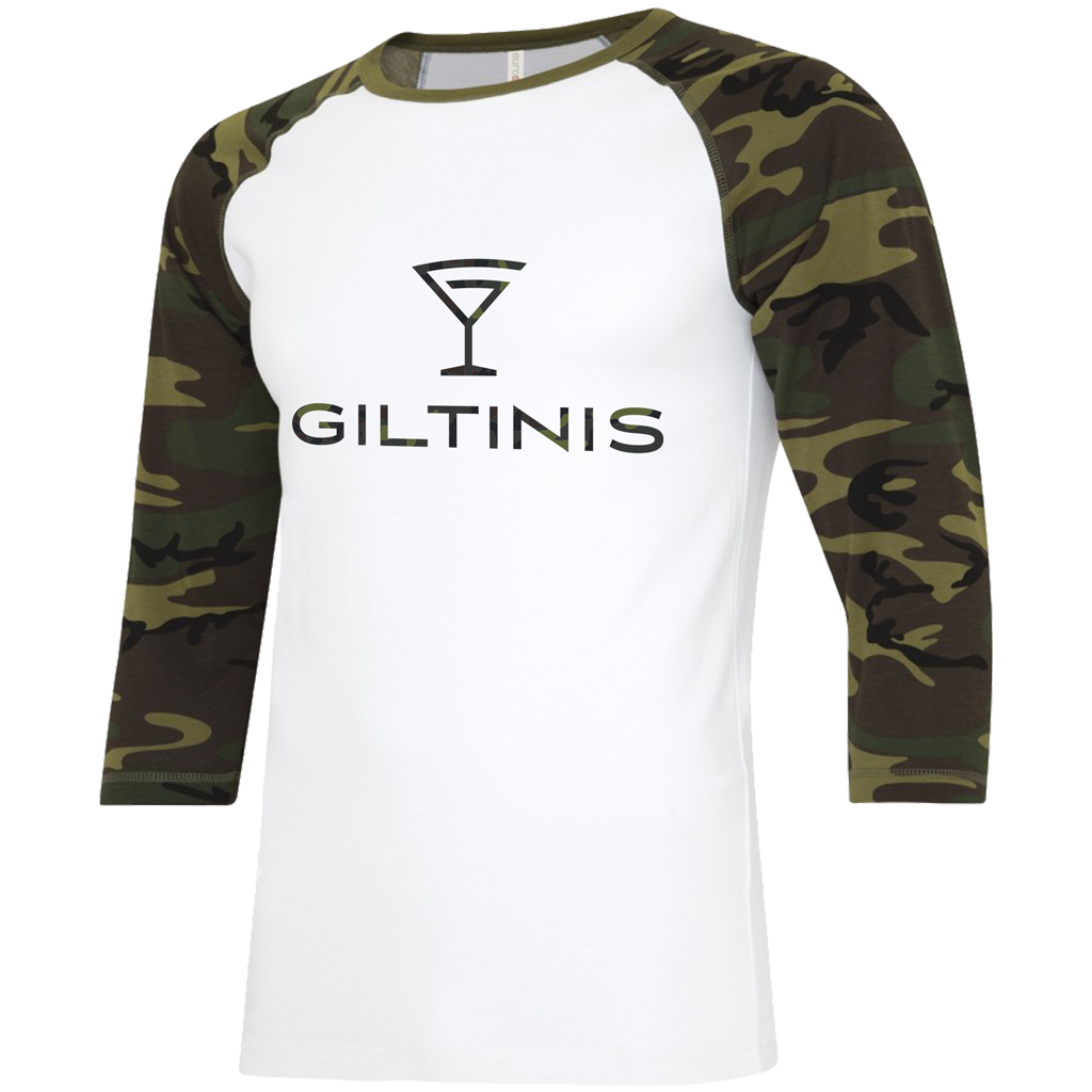 "LA Giltinis 2021 ""Salute the Troops"" Baseball Tee - Adult Unisex White/Camo - SHOPMLR.COM"