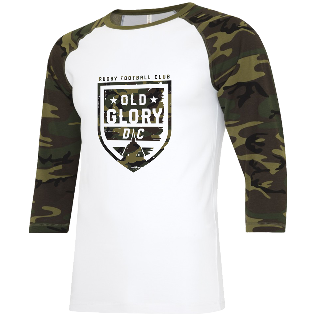 "Old Glory DC 2021 ""Salute the Troops"" Baseball Tee - Adult Unisex White/Camo - SHOPMLR.COM"