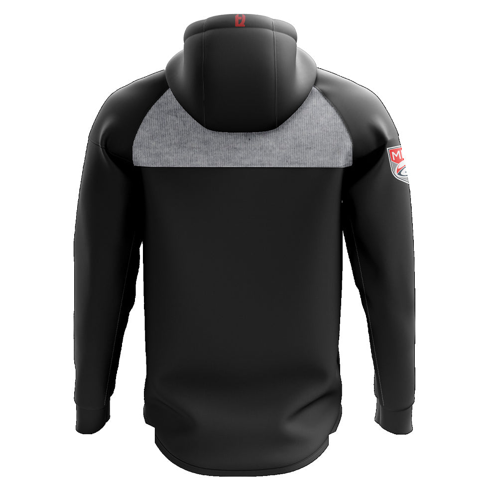 Rugby ATL 2020 1/4 Zip Hoodie - Women's Black/Grey - SHOPMLR.COM