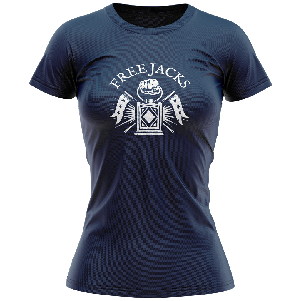 New England Free Jacks 2020 Graphic Tee - Women's Navy - SHOPMLR.COM