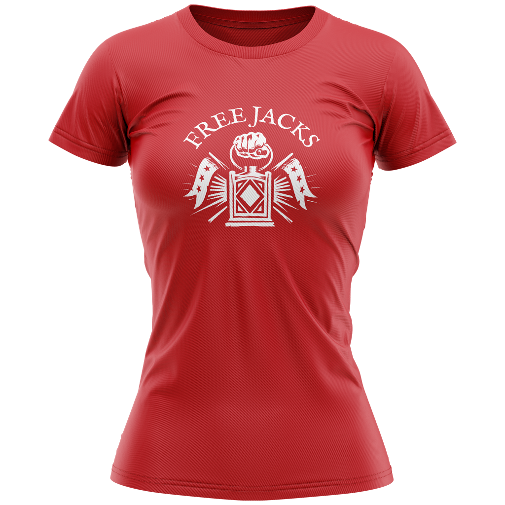 New England Free Jacks 2020 Graphic Tee - Women's Red - SHOPMLR.COM
