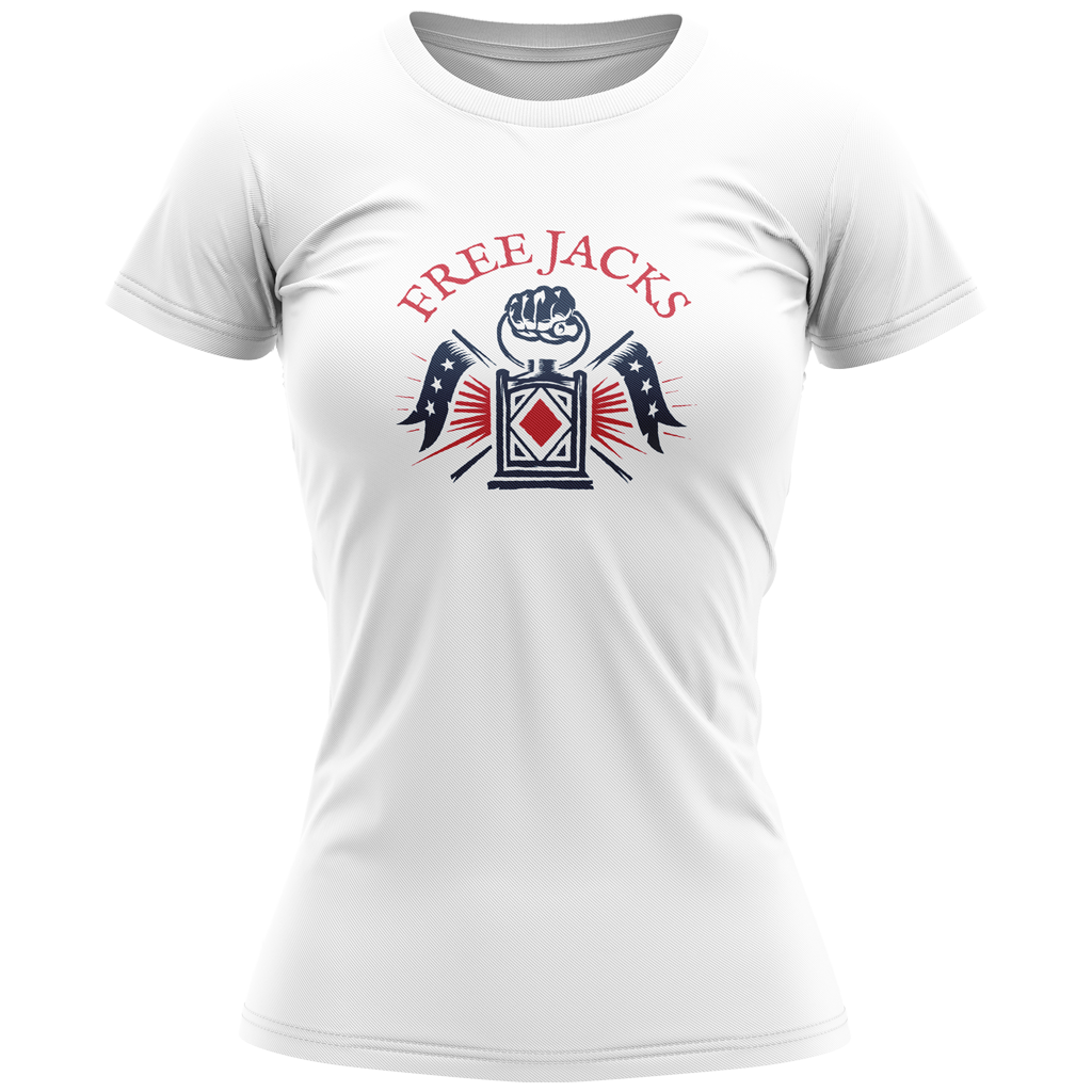 New England Free Jacks 2020 Graphic Tee - Women's White - SHOPMLR.COM