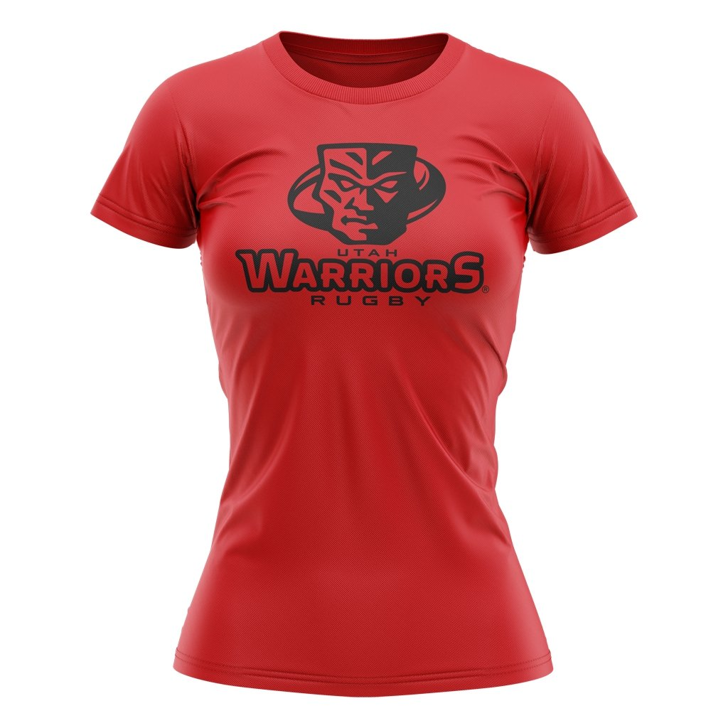 Utah Warriors 2021 Tee - Women's Red - www.therugbyshop.com