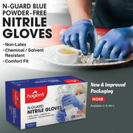 Hagen's N-Guard Nitrile Gloves (100 Per Box) Size Small