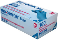 Med-Comfort Blue Nitrile Examination Gloves (100 Per Box) XL