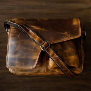 Buffalo Leather Messenger - My One Stop