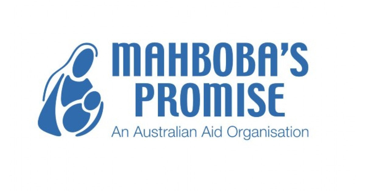 Logo Mahboba's promise. Chunky Boy support programme
