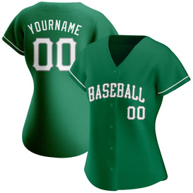 Custom Kelly Green White-Gray Authentic St. Patrick's Day Baseball Jersey